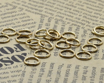 100pcs of Light-Gold  Open Jump ring 10 mm