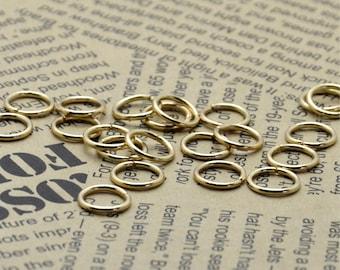 100pcs of Light-Gold  Open Jump ring 10 mm