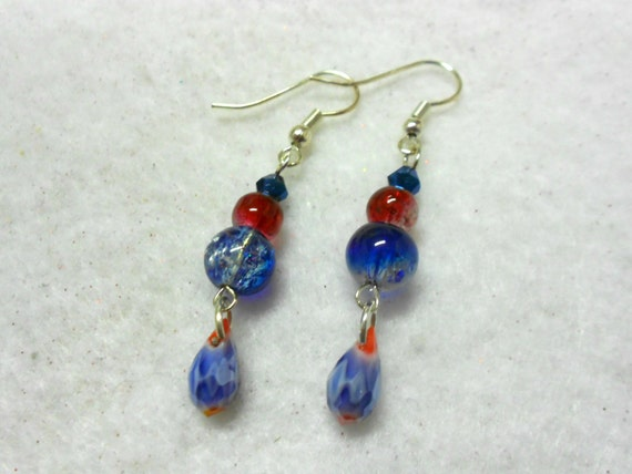 4th of july earrings patriotic earrings 4th of july earrings by universalcharm 3848