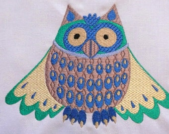 Owl embroidery machine pattern