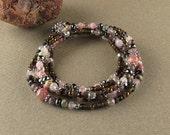 Stress & Anxiety 5-wrap beaded bracelet
