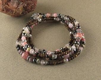 Stress & Anxiety 5-wrap beaded bracelet (2799)