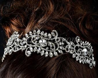 Vintage Rhinestone Bridal Crown Tiara - Style 16