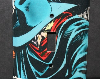 The Shadow Hero Comic Book Resin Switchplate Light Cover
