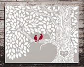 Wedding Guest Book .wedding tree--  To Be Personalized With Guest's Signatures - 17x22 - 130-160 Signature Guestbook