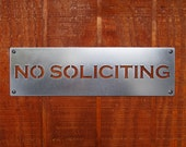 No Soliciting Sign in Stainless Steel Classic