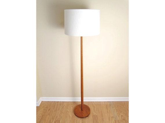 Teak Floor Lamps: Swedish Teak Floor Lamp - Mid-Century Danish Modern Scandinavian Area  Lighting,Lighting