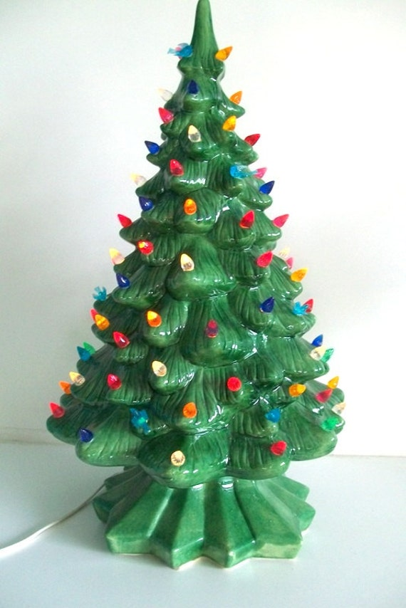 Tabletop Vintage Ceramic Christmas Tree By 4envisioningvintage