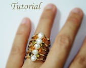 Beading Tutorial - Beaded Five Band Clasp Ring