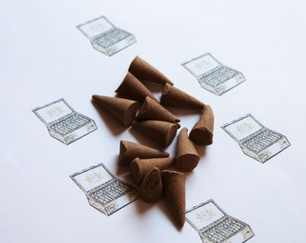 Cigar Shop Scented Cone Incense - Incense Cones - Aromatherapy - Aroma - Essense - Home Decor - Gift for Adults