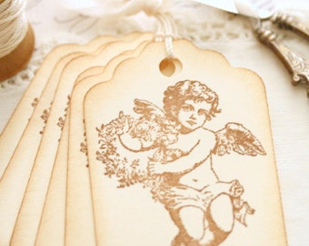 Angel Gift Tags Wedding Favors Baptism Gifts Baby Shower Decor