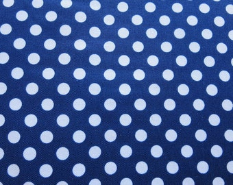 Le Creme Dots Navy - Riley Blake Sold by the Yard