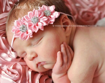 CHOOSE COLOR Baby headbands, Newborn Headband, Baby headband, Infant headband, baby girl headband, Pink white lavender red  baby headband.