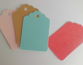 Earring Tags, Gift Tags, Glitter Cardstock Tags for Earrings, Cardstock Tags for Gifts, Die-Cut Earring Tags, Gift Tags Made to Order