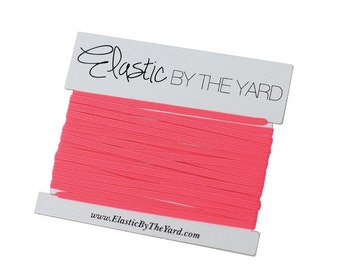 NEON PINK Skinny Elastic for Baby Headbands 1/8 inch - 5 yards