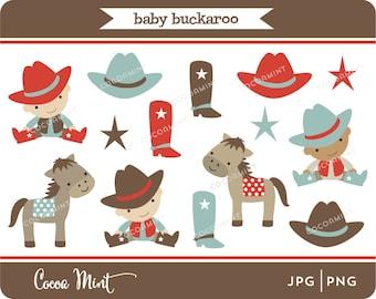 Baby Buckaroo Cowboy Clip Art