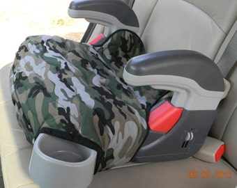 Car Accessory, Booster Seat Replacement, Graco Turbo Booster seat cover, Green camoflauge, Padded