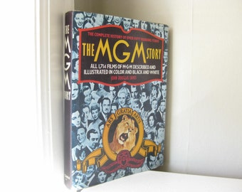 1970s Vintage The MGM Story Coffee Table Book