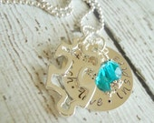 Teach, Love, Inspire - Special Needs Teacher Puzzle Piece Charm- Personalized Hand Stamped Sterling Silver Necklace