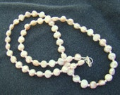 Beaded Pink Pearl Choker // Freshwater Pearls // Pale Pink Pearls with Seed Beads // Beaded Choker // Everyday Pearl Necklace - BJ0026