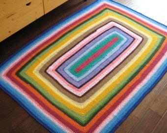 Multi Color Rectangular Rug / Floor Mat 68x45