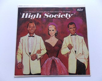 High Society - Original MGM Soundtrack LP Vinyl Record Album - Frank Sinatra - Bing Crosby - Grace Kelly - Louis Armstrong - Jazz - 1956