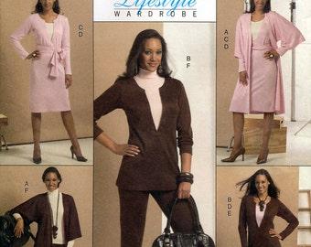 Butterick B5146 Misses' Jacket, Tunic, Dress, Belt, Camisole, Skirt and Pants Sewing Pattern - Uncut - Size 8, 10, 12, 14