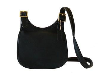 Authentic Coach Faith's Legacy Black Leather Crossbody Shoulder Bag