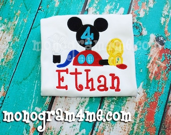 Boys Mickey Mouse Club House Disney Birthday Shirt