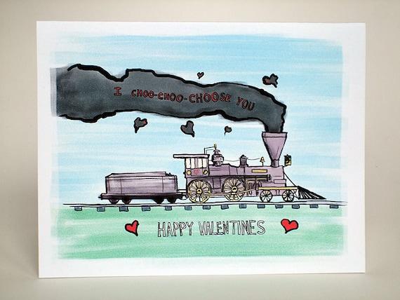 I choo-choo choose you Valentine's Day card