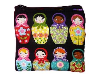 Matryoshka Dolls Print Coin Bag