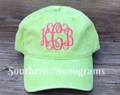 FALL SALE* Custom Personalized Monogrammed Baseball Cap Hat - Coral, Hot Pink, Sea Foam etc