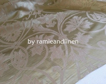 "silk fabric, floral brocade silk fabric, yarn dyed iridescent silk fabric, half yard by 56"" wide"