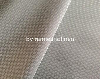 "silk fabric, Silk cotton blend jacquard fabric, half yard by 45"" wide"