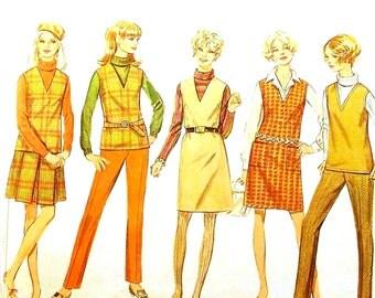 Vintage 1960s Separates Pattern Size 12, 18 Bust 34, 40 Simplicity 7795