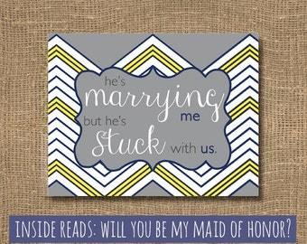 Maid of Honor Card / Asking my Maid of Honor Card / Will You Be My Maid of Honor Funny / Maid of Honour Card / Wedding Bridal Party Cards