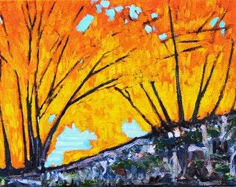 Autumn Leaves- California Landscape Painting
