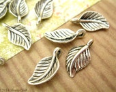 15pc Leaf Charms, Small Leaf Charms, 15x8mm