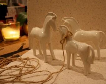 Middle hand made unique porcelain HORSE