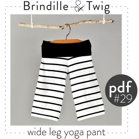 Kids Wide Leg Yoga Pants Pdf Pattern // Easy By