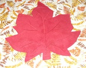 Cloth Placemats, Fall Leaves, Rust, set of 4