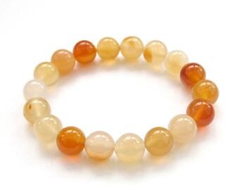 10mm Agate Round Beads Tibetan Buddhist Wrist Mala Bracelet For Meditation  T3153