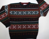Vintage 90's Nordic Ski Sweater - Large - Trend Basics - Just Trying to Blend In