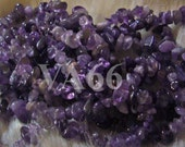 Gems 34 inches Purple Amethyst Gemstone Chips Genuine Gemstones Strand Loose Beads Scrapbooking, Jewelry Making, Crafts, bead, natural stone