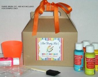 Kids Art Party favor box / Kids paint party favor / Painting favor box - Set of 6