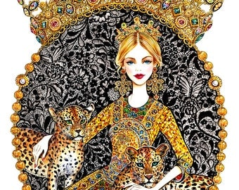 Fashion Illustration - Every girl is the queen of her world
