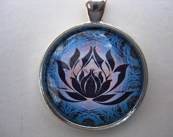Yoga Necklace:  Lotus on Mandala Necklace (002)