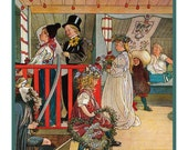 Carl Larsson's Nameday Celebration detail Counted Cross Stitch Chart