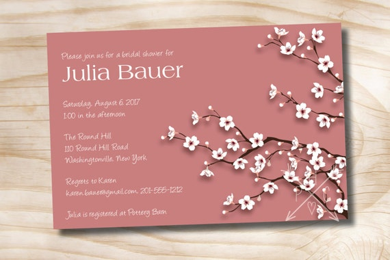 Cherry blossom chic bridal shower baby shower invitation il570xn filmwisefo