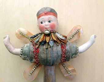 Beaded Spindle Faerie by Betsy Youngquist